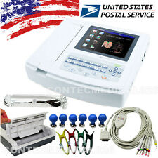 US Seller 12 Channel ECG EKG Machine ECG1200G Touch electrocardiograph Printer