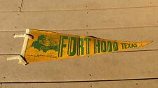 WW2 US ARMY MILITARY FORT HOOD TEXAS ARMOR TANK PENNANT M3 STUART