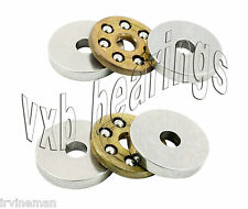 "2 Thrust Bearing 3.175x12x6 ID=1/8"" inch Bore Miniature Thrust Ball 6927"