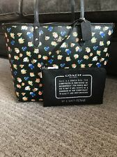 NWT Coach Reversible City Tote Rose Meadow With Pouch F57668 black multi $350