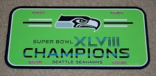 SEATTLE SEAHAWKS SUPER BOWL 48 NFL FOOTBALL SPORTS PLASTIC LICENSE PLATE