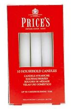 10 PRICES HOUSEHOLD CANDLES - WHITE EMERGENCY WAX CANDLES UNSCENTED