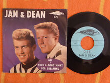 JAN & DEAN Gee/Such A Good Night For Dreaming 45 rpm w/ PICTURE SLEEVE Dore 1960