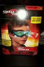 NIB SPY GEAR NIGHT GOGGLES WITH FLIP OUT SCOPE 2X MAGNIFICATION LENS