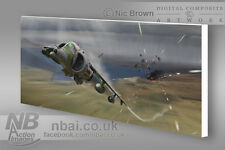 BAe Harrier GR3, Falklands War, Digital Artwork on canvas.