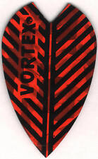 Red Vortex Dart Flights: 3 per set