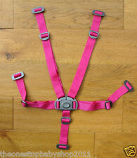 M & P HOT PINK URBO 2 SOLA 2 GLIDE ZOOM LUNA SYNC TOUR PUSHCHAIR HARNESS New