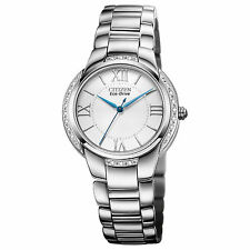 Citizen Eco-Drive Ciena 20 Diamonds Silver Dial Women's Watch EM0090-57A SD
