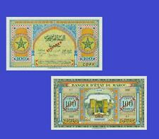 Morocco 100 Francs note 1944. UNC - Reproductions