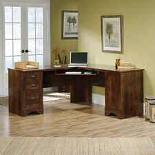 L-Shaped Desk - Curado Cherry - Harbor View (420474)