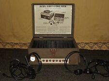 VINTAGE RECORD PLAYER AUDIOTRONICS MULTIPLE HEADSET LISTENING SYSTEM