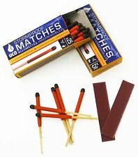 50 UCO Stormproof Matches Windproof Waterproof Outdoor Camping Survival Military