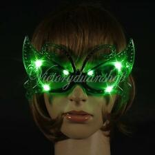 Butterfly Sparkle LED Light Up Flashing Glasses Mask Ball Club Xmas Party Gift