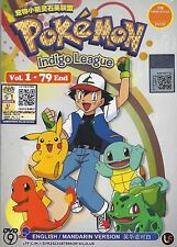 POKEMON INDIGO LEAGUE The Complete ENG Anime TV Series Ep.1 - 79 End DVD Box Set