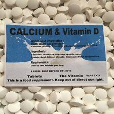 CALCIUM & VITAMIN D (60 comprimés) 1 ou 2 par jour (L)