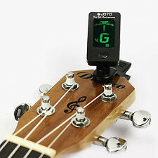 Chromatic Clip-On Digital Tuner for Acoustic Electric Guitar Bass Violin Fancy Q