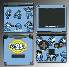 Mega man 25th Anniversary Rockman Special Game Decal Skin Cover Nintendo GBA SP