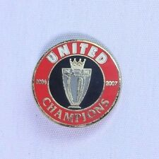 Manchester United Champions 2006 - 2007 Football Brooch Pin Badge