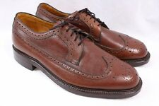 BOSTONIAN 50s 60s Brown Leather Long Wing Dress Wingtip Oxford Shoes Men 9 Wide