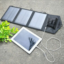 10.5W Folding Solar Panel USB Travel Camping Portable Battery Charger For Phone