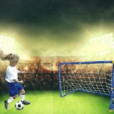 Portable Mini Soccer Football Goal Post Net Set Pump Indoor Outdooor Kids Toy /