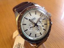 Fossil Men's Edition Sport Chronograph Dark Tan Leather Watch CH2995