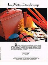 PUBLICITE ADVERTISING 094  1992  LOUIS VUITTON   parures de ville  AME DU VOYAGE