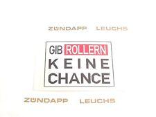 """Simson Aufkleber """"Gib Rollern..."""" 4 x 6 cm"""