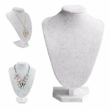 Mannequin Velvet Necklace Pendant Chain Bust Neck Jewelry Display Holder Stand