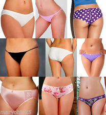 LOT 75 Mixed Womens Sexy Bikinis Thongs Tangas T Back G String Panties Underwear