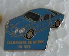 RARE PIN'S ALPINE RENAULT A 110 BERLINETTE CHAMPION 1973 ZAMAC BALLARD ARGENT