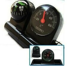 2 IN 1 REMOVABLE CAR COMPASS AND THERMOMETER ADHESIVE VAN TRUCK TRAILER UK AC49