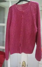 Handmade knitted wool & cardigan jacket size XL 16 - 18