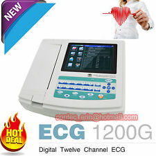 contec 12-channel ECG Ekg macchina elettrocardiografo SOFTWARE PC USB ECG1200G