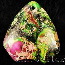 44x40x7mm Multicolor Sea Sediment Jasper & Pyrite Jewelry Pendant