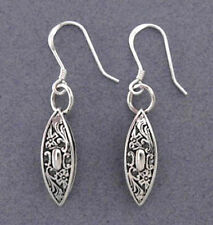 Sterling Silver Tatting Shuttle Earrings Antique Sewing Free US Shipping