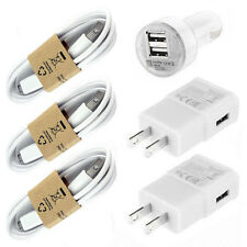 USB Charging Cable + Car and Wall Home Charger for Samsung Galaxy S3 S4 Note 4 2