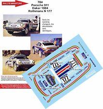 DÉCALS 1/18 réf 784 Porsche 911 Dakar 1984 Rothmans N 177 Kussmaul Lerner
