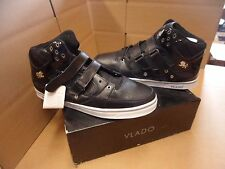 Men's Vlado Knight Mid-Top Black/White Casual Shoes Size 9 New!