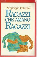 N81 Ragazzi che amano ragazzi Piergiorgio Paterlini Feltrinelli 1991