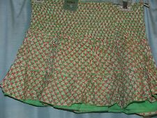 Skirt Size 10 By Primark green & red, cotton Check the exact size in description