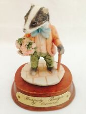 ✿ LEONARDO 1980s LITTLE NOOK VILLAGE BARNABY THE BADGER BEATRIX POTTER FIGURINE