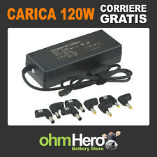 Caricabatterie alimentatore universale 120W TOSHIBA ACER ASUS SONY SAMSUNG