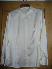 Marks and Spencer ivory satin blouse size 22
