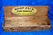 Antique Boot Jack Plug Tobacco Wooden Box John Finzer & Bros The American Co Old