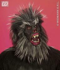Deluxe Gorilla Face Mask With Hair - Chimp Monkey Ape Animal  Fancy Dress