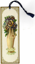 Halcyon Card Vintage Victorian Style Bookmark Lace Hand with Pancy Flower Tassel