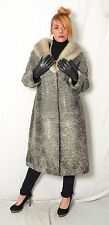 K725 Persianer Pelzmantel Nerz Pelz Mantel persian lamb coat mink fur ca.  XXL