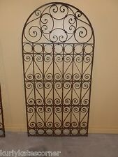 "72""  ORNATE OLD WORLD ARCHED TOP  WROUGHT IRON GATE"