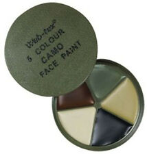 NEW WEB-TEX CAMO FACE PAINT WITH MIRROR, 5 COLOUR MULTI TERRAIN,CAM CREAM,